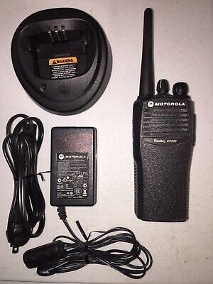 Used Motorola Cp200 Vhf 4 Channel Radio With Battery Charger Lot J22
