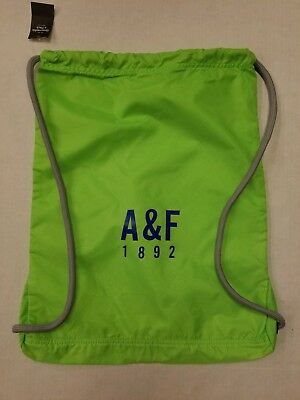 ABERCROMBIE & FITCH LIGHT GREEN COLOR Drawstring & NYLON Bag Backpack BRAND NEW