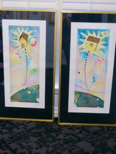 Framed & Matted Dyptich Set of 2 TIMOTHY CHAPMAN Numbered LITHOGRAPH PRINTS