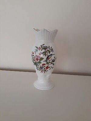 Aynsley Pembroke Miniature Vase Birds Flowers Vintage Retro Collectable