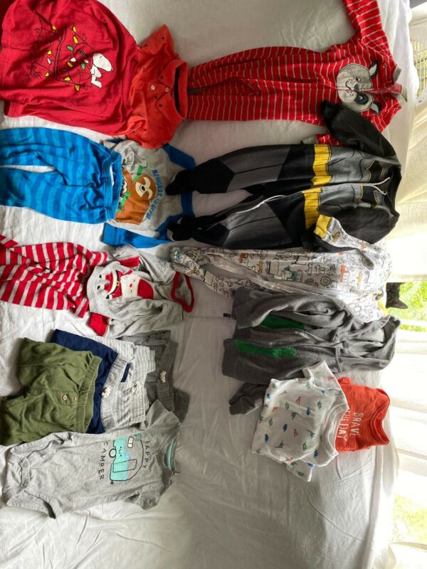 baby boy clothes lot 18 Months 17 Pieces Mostly Carter's
