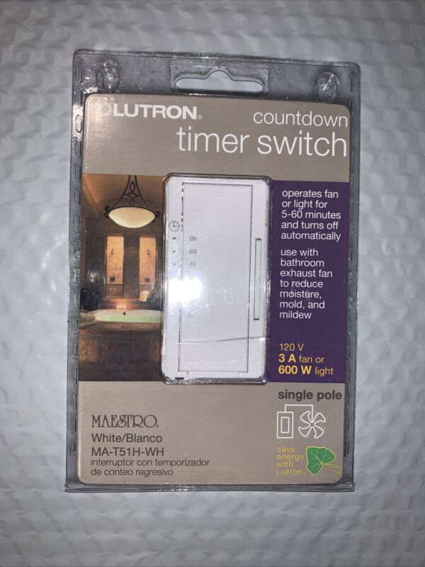 Lutron MA-T51H-WH Maestro Countdown Timer Switch (FREE SHIPPING)