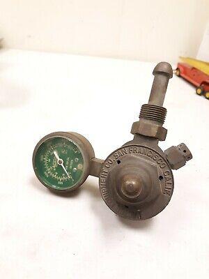 Vintage Brass Usg Pressure Gauge Air Regulator Tool - Us Gauge - 13307-1