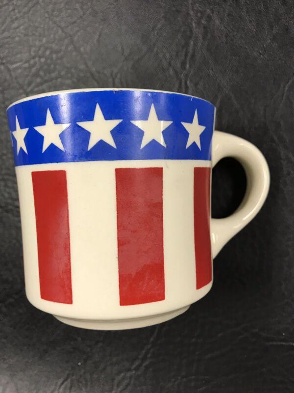 Sambo's Restaurant Sambo's Has It Vintage Coffee Cup Mug 1970s Flag USA