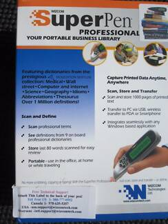 SuperPen Professional, Portable Business Library Scan and define.