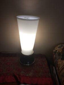 Modern white glass lamp