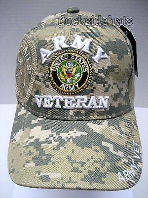 U.S.ARMY VETERAN Cap Hat Camo w/Shadow DIGITAL CAMO *Free Shipping*
