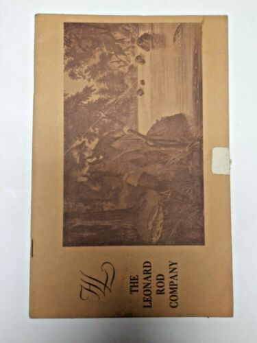 H.L. Leonard 1972 Fly Fishing Rod Tackle Catalog from Ed Shenk