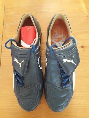 puma v-konstrukt II GCi FG blue/gold leather football boots uk size mens 11