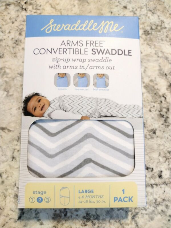 Swaddle Me Arms Free Convertible Swaddle Blanket Size Large 4-6 Months FastShip