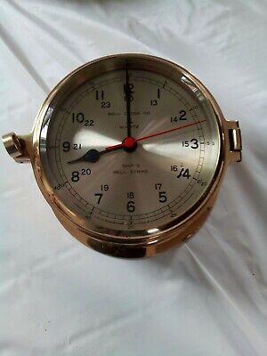 Ship's Clock Bell Clock Co Quartz Brass Quartz Ships Bell Clock