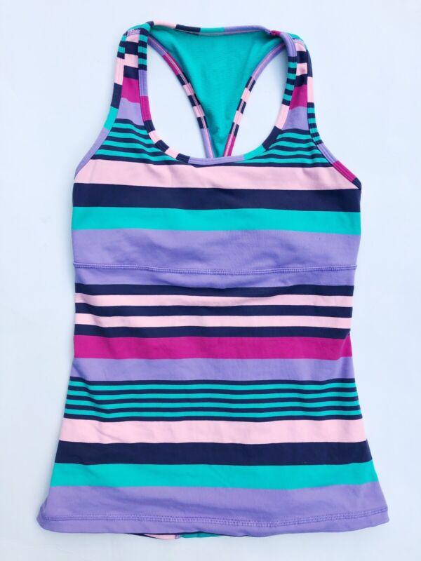 Ivivva Lululemon Girls Keep Ur Cool Racer Tank Top Girls Size 14 Striped