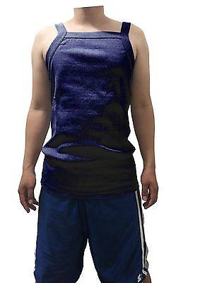 G UNIT Square Cut Ribbed Tank Top Undershirt Wife Beater Mens Cotton Navy XL