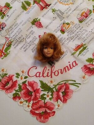 VINTAGE BARBIE DOLL FASHION QUEEN BARBIE WIG Malibu Head