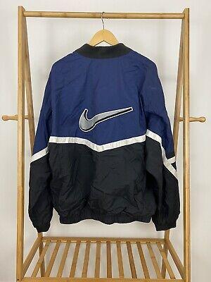 VTG Nike Men's Big Swoosh 1/2 Zip Pullover Windbreaker Jacket Size XXL