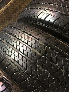 4 Bridgestone 255/70/17 all season 80% tread