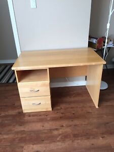 Wooden work desk