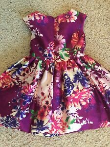 3T Pippa & Julie deep purple floral party dress, like new!
