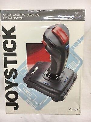 NEW Vintage Quickshot Deluxe Analog Joystick IBM PC NIB NOS Sealed Gaming Video