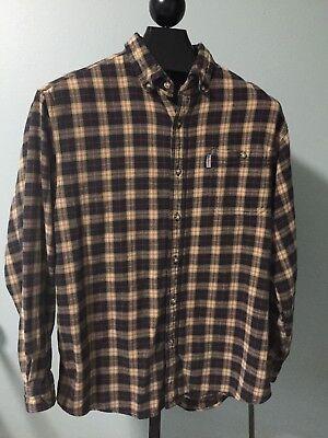 Carhartt Heavyweight Work Shirt - Carhartt Mens Shirt Size Large Long Sleeve Button Down Heavyweight Work Shirt
