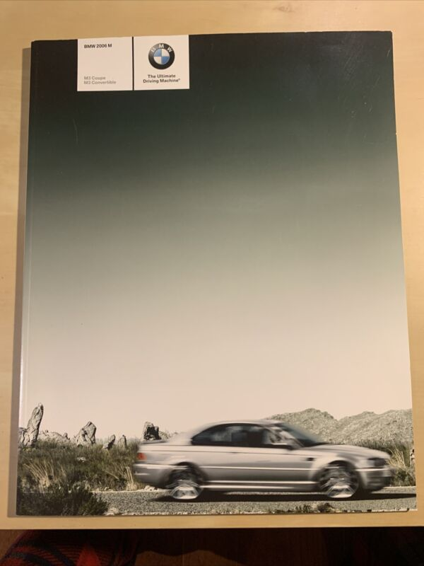 2006 BMW M COUPE & CONVERTIBLE  MODELS SALES BROCHURE..