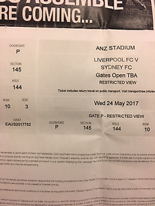 Liverpool v/s Sydney!!! Tickets!! Price drop Brighton-le-sands Rockdale Area Preview