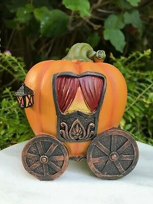 Miniature Dollhouse FAIRY GARDEN ~ Mini Fall HALLOWEEN Pumpkin Carriage (Halloween Fairy Garden)