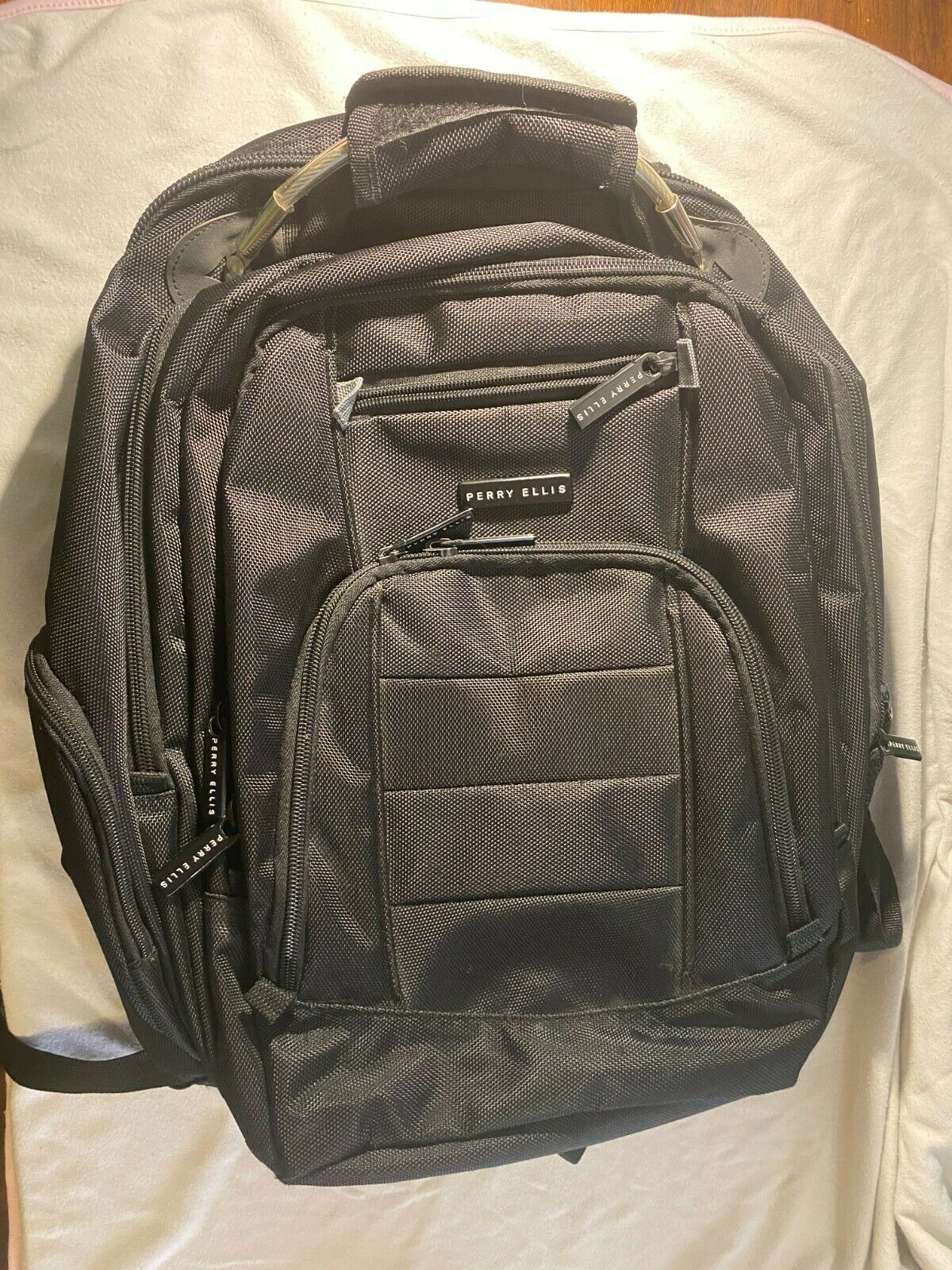 Perry Ellis M200 Business 15-in Laptop Backpack With Tablet Black - $20.00