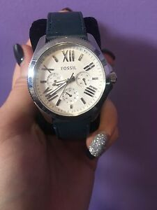 Women's Leather Strap Fossil Watch
