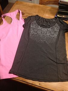 Lululemon size 4 T-Shirt and Tank Mint