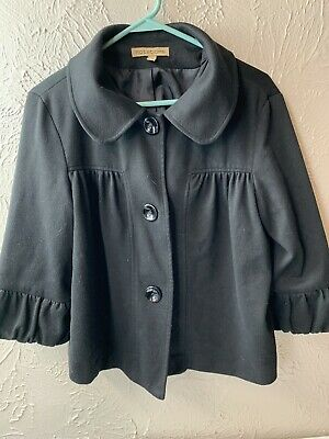 "NEW NOTATIONS LAYERING ""JACKIE O"" CROP JACKET 3/4 sleeve Size Large"