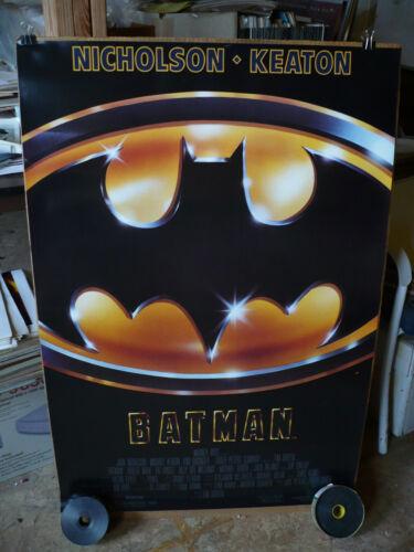 BATMAN, NM ORIGINAL REGULAR ROLLED ONE SHEET/ MOVIE POSTER (Michael Keaton) 1989