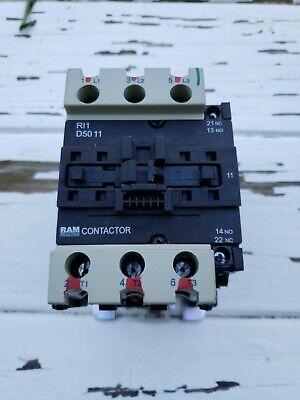 Ram Industries Contactor Ri1-d5011 3 Pole 50 Amp 120 Volt Coil
