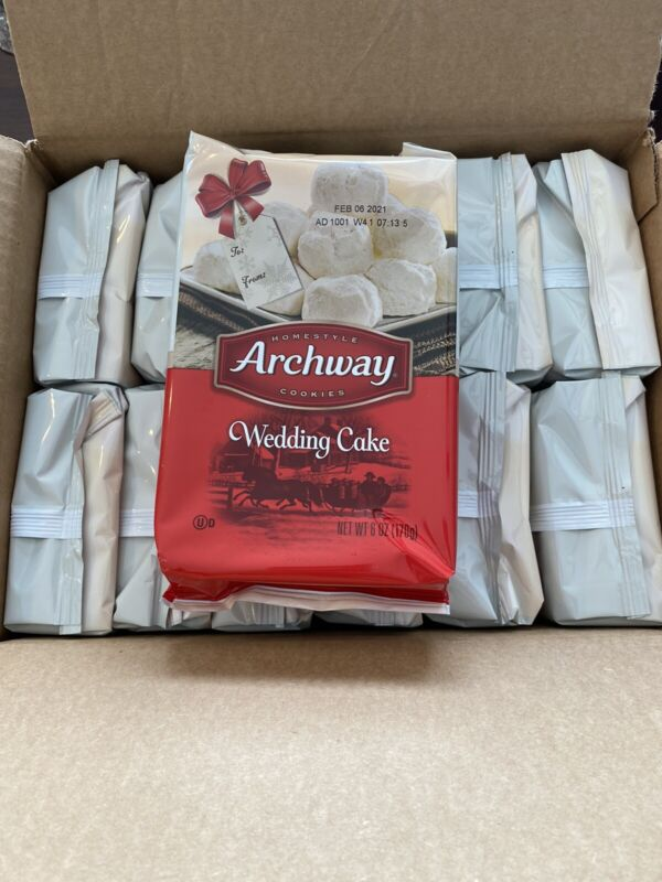 Archway Wedding Cake Holiday Cookies 12-5oz Boxes