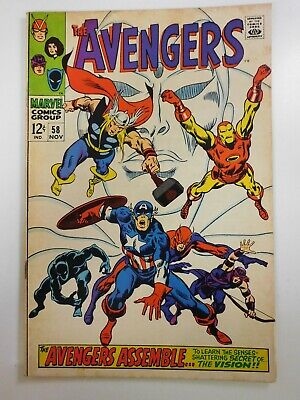 Avengers 58 Earth s Mightiest Heroes Beautiful Fine Condition  - $5.50