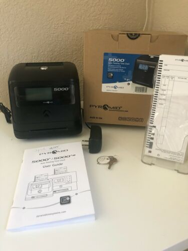 Pyramid 5000+/ 5000+ HD Auto Totaling Time Clock Bundle