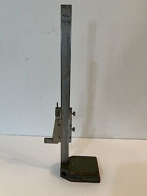 Vintage Mitutoyo 10 Vernier Height Gage Stainless Hardened Machinist Tool