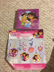 Dora and Friends Party decor & napkins