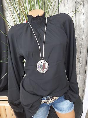 Sheego Tunika Bluse Shirt Gr. 44 - 50 mit hohem Kragen (715) NEU