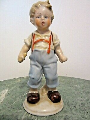 1930s Handbags and Purses Fashion 1930'S  ANTIQUE FASOLD & STAUCH GERMANY PORCELAIN FIGURINE BOY WITH A BAG PACK   $22.00 AT vintagedancer.com