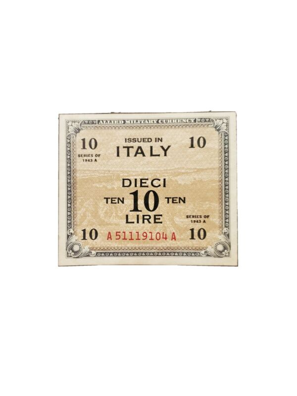 Allied Military Currency Italy