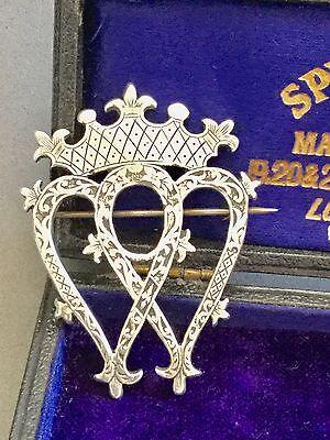 Scottish Silver c1940s HAMISH DAWSON BOWMAN CAI Luckenbooth Brooch- Wedding/Gift