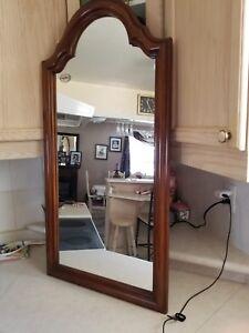 Craftline vintage wooden mirror