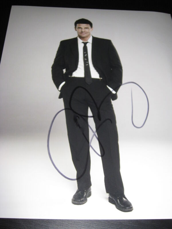 DAVID BOREANZ SIGNED AUTOGRAPH 8x10 PHOTO BONES PROMO IN PERSON COA AUTO RARE D