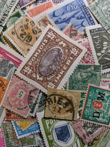 Old Worldwide Stamp Collection Classics pre-1940 Mix Lot of 100 Mostly Classics