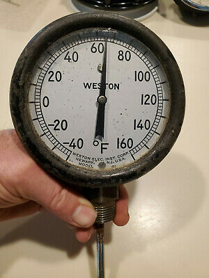 Vintage Weston Newark N.j. Model 122 Tempeture Gauge