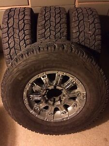 """17"""" ultra motor sports rims and tires"""