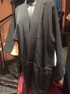 Antique Vintage Japanese Kyoto Silk Vintage Haori Hapi Short Kimono Jacket