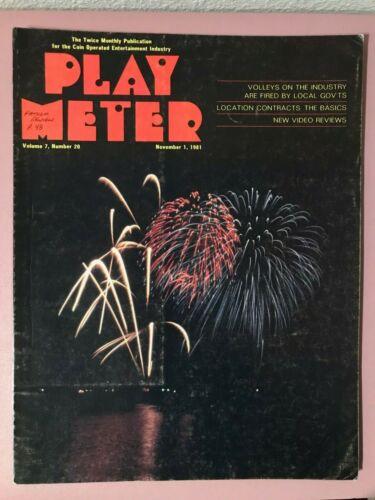 Play Meter Magazine Nov 1, 1981 w/ Roger Sharpe Bally Fathom Pinball Review
