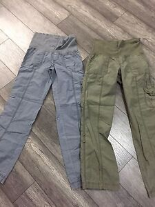 2 PAIRS OF MATERNITY CARGO PANTS